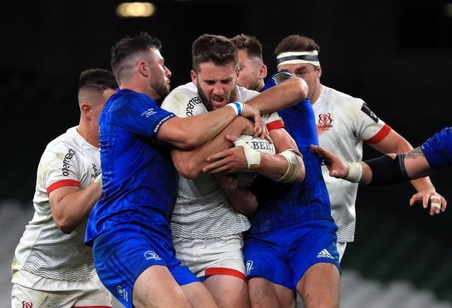 Stuart McCloskey, centre, has returned to international contention following his form for Ulster