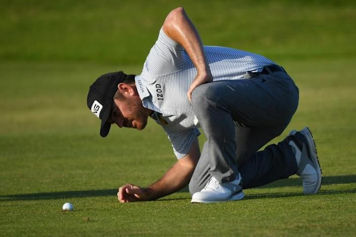 Eyes on the prize: Louis Oosthuizen leads the British Open by one shot going into Sunday's final round
