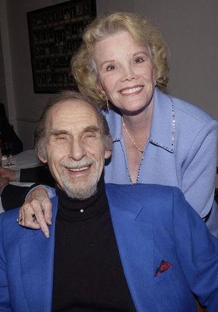 FILE PHOTO: Legendary comedian Sid Caesar poses with actress Nanette Fabray as he celebrates his belated 80th bi..