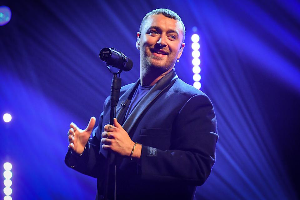 EDITORIAL USE ONLY Sam Smith performs during the filming for the Graham Norton Show at BBC Studioworks 6 Television Centre, Wood Lane, London, to be aired on BBC One on Friday evening.