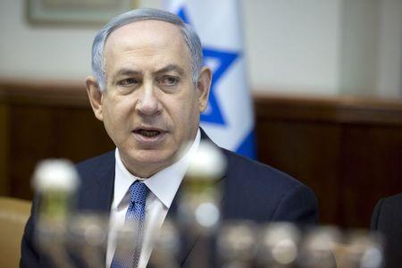 Israeli Prime Minister Netanyahu holds the weekly cabinet meeting in Jerusalem