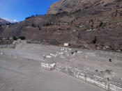 A view of the damaged Dhauliganga hydropower project at Reni village in Chamoli district after portion of Nanda Devi glacier broke off in Tapovan area of the northern state of Uttarakhand, Sunday, Feb.7, 2021. (AP Photo)