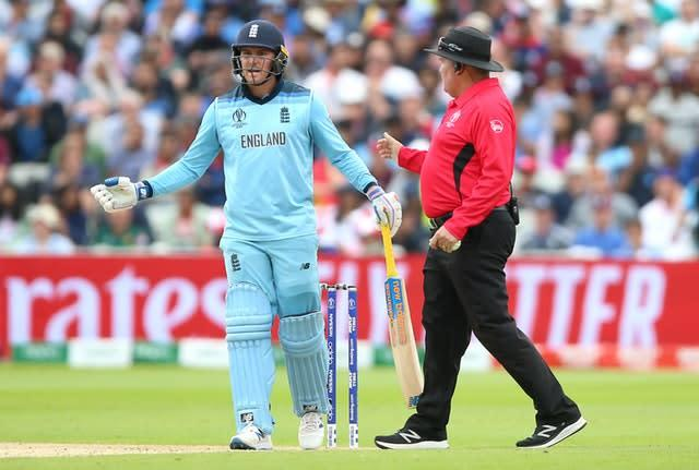 Jason Roy was furious following his dismissal (Nigel French/PA)