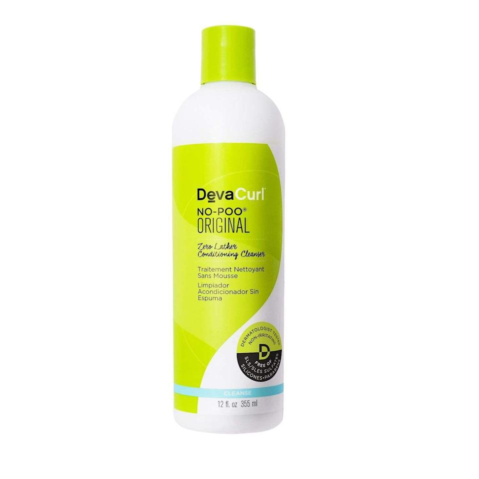 """<p><strong>DevaCurl</strong></p><p>sephora.com</p><p><strong>$10.00</strong></p><p><a href=""""https://go.redirectingat.com?id=74968X1596630&url=https%3A%2F%2Fwww.sephora.com%2Fproduct%2Fno-poo-P378324&sref=https%3A%2F%2Fwww.harpersbazaar.com%2Fbeauty%2Fhair%2Fg24892831%2Fbest-sulfate-free-shampoos%2F"""" rel=""""nofollow noopener"""" target=""""_blank"""" data-ylk=""""slk:Shop Now"""" class=""""link rapid-noclick-resp"""">Shop Now</a></p><p>This non-lathering cleanser gives your curls the moisture it deserves. Made with grapeseed oil to moisturize and peppermint for that clean, refreshing feeling, it's clear why it's one of the all-time great curl cleansers.</p>"""