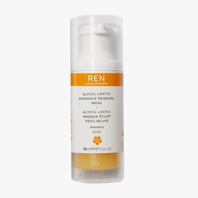 REN Clean Skincare Glycol Lactic Radiance Renewal Mask, $56, amazon.com