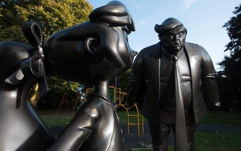 The statues in Great Missenden, Buckinghamshire - Credit: PA