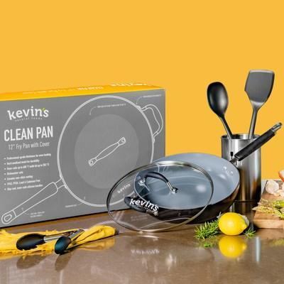 When it comes to cooking with Kevin's Clean Pan, the difference is in the details. Time was put in to make this the best non-stick cookware. From the non-toxic ceramic coating to the professional-grade thickness, this healthy cooking kitchen accessory functions as a frying pan, skillet and so much more.