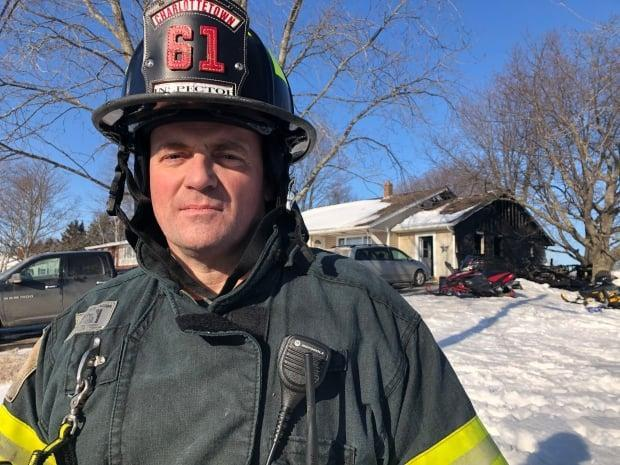 FIle photo of Charlottetown fire inspector Kent Mitchell at an unrelated location. Mitchell says public safety is the fire department's primary concern.
