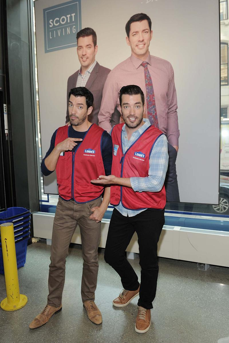Jonathan and Drew Scott at Lowe's