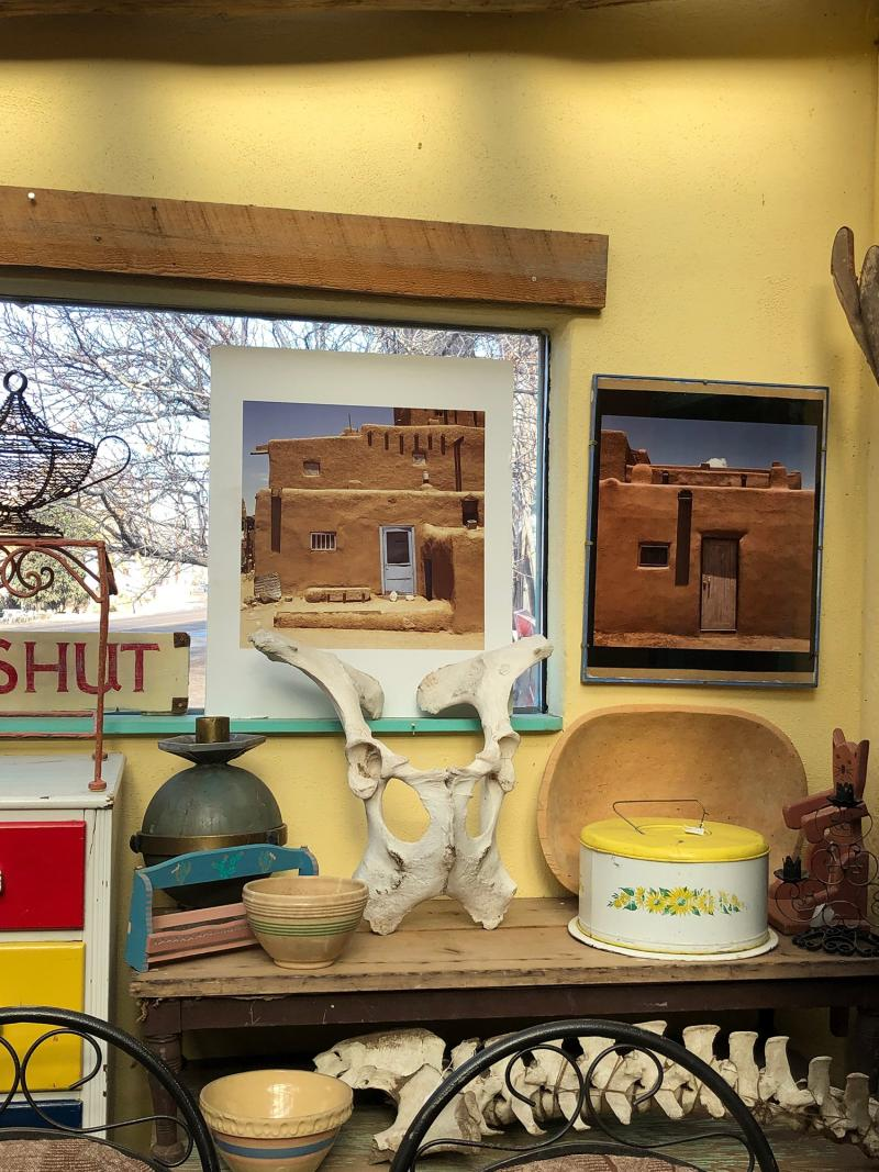 The adobe house in Taos was my kind of house too.