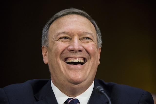 Mike Pompeo testifies before the Senate Select Committee on Intelligence in January 2017.