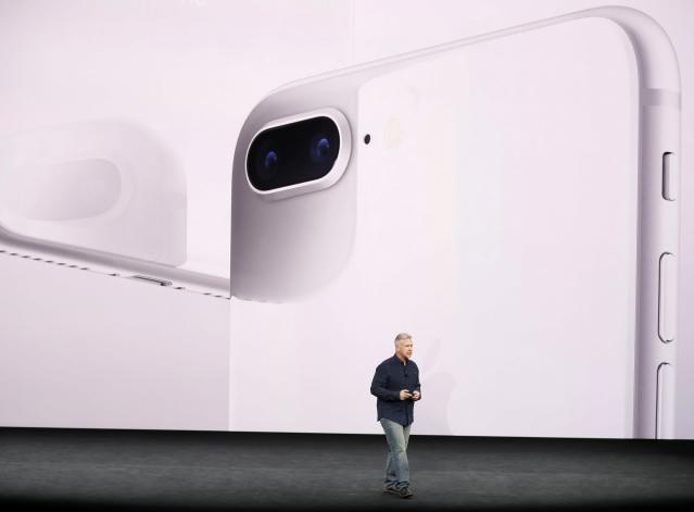 <p>The iPhone 8 and iPhone 8 Plus both have 12MP cameras, portrait lighting and can shoot 4K video. REUTERS/Stephen Lam </p>