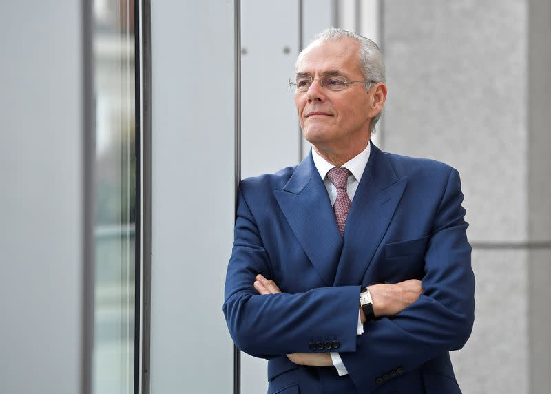 Scicluna, Chairman of Sainsbury's, poses for a portrait at the company headquarters in London