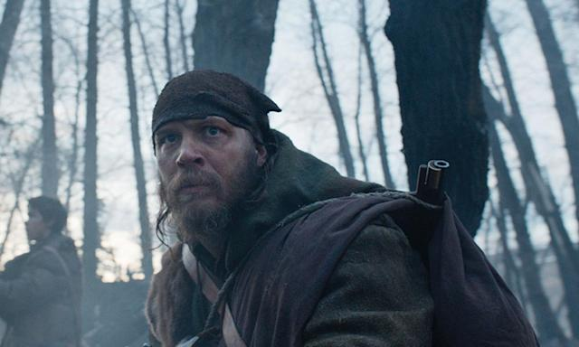 Tom Hardy in a still from the 2015 film <em>The Revenant</em>.