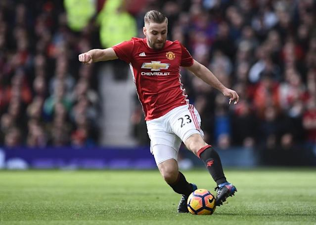 Manchester United's Luke Shaw still has a long way to go to regain full fitness following a series of injuries, according to his manager (AFP Photo/Oli SCARFF )