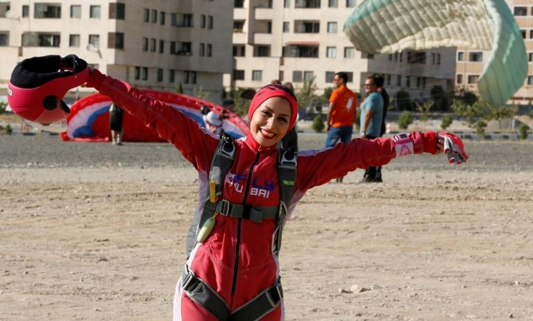 For Iranian skydiving enthusiast Bahareh Sassani, her love of the sport is a way of attempting to break down stereotypes in her deeply conservative homeland