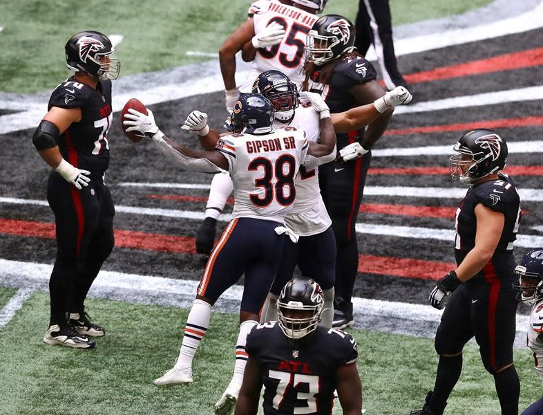 Falcons blow another big lead, this time to Foles and Bears