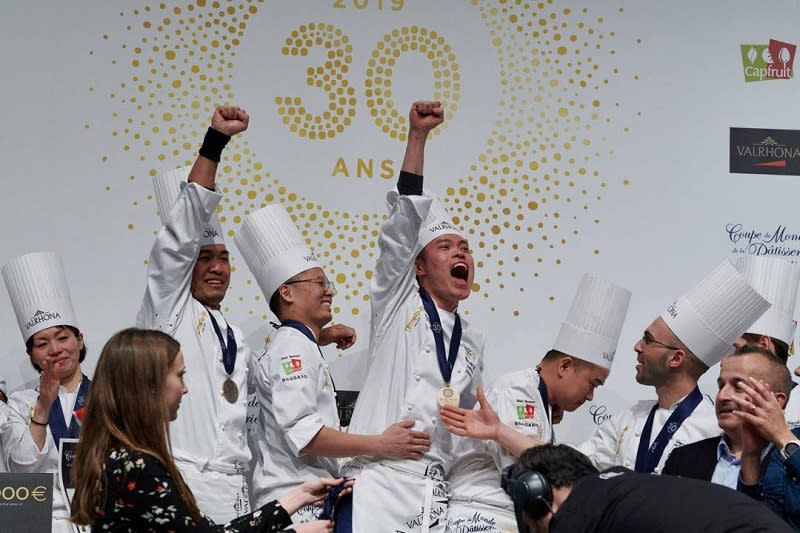 Victory! The jubilant faces when Team Malaysia was announced winners of the World Pastry Cup.