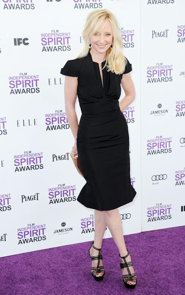 SANTA MONICA, CA - FEBRUARY 25:  Actress Anne Heche arrives at the 2012 Film Independent Spirit Awards on February 25, 2012 in Santa Monica, California.  (Photo by Alberto E. Rodriguez/Getty Images)