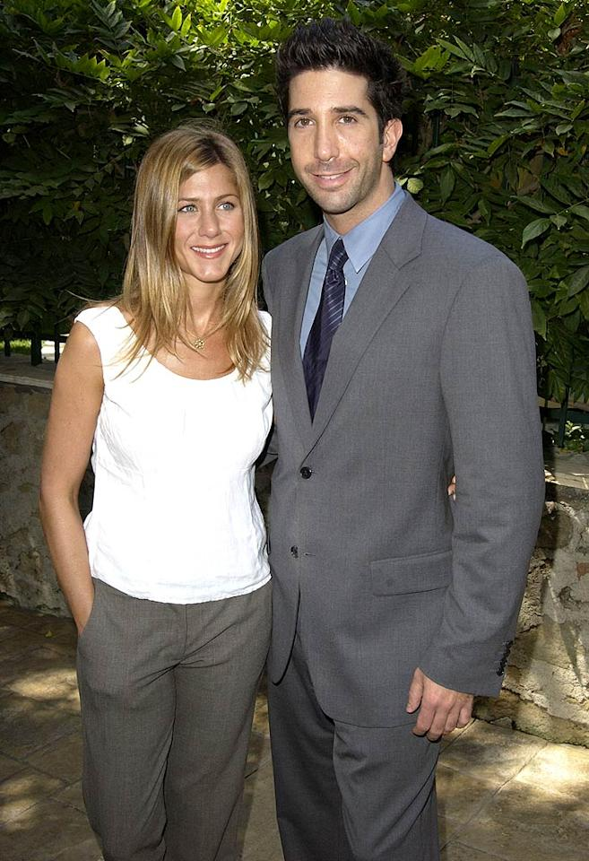 """According to reports, David Schwimmer became """"offended"""" after Jennifer Aniston appeared on """"Late Show With David Letterman,"""" and answered """"don't know"""" when the talk show host asked her who Schwimmer's marrying. Whoops. Now, people say, Schwimmer is ignoring Aniston's calls. Check out <a href=""""http://www.gossipcop.com/despite-claim-jennifer-aniston-and-david-schwimmer-are-still-friends/"""">Gossip Cop</a> to find out whether the two are no longer """"Friends"""" in real life. SGranitz/<a href=""""http://www.wireimage.com"""" target=""""new"""">WireImage.com</a> - September 16, 2003"""