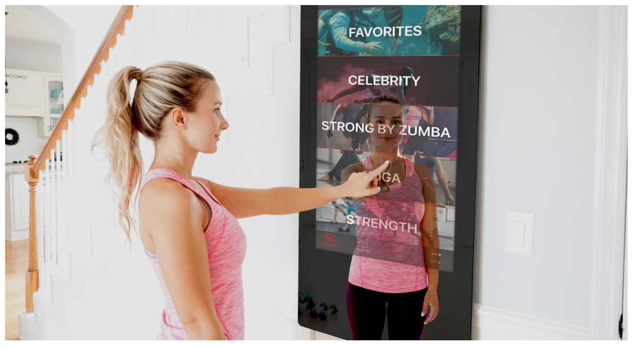 The Echelon Reflect Touch Mirror is on sale for $100 off at Dick's Sporting Goods right now. (Photo by Dick's Sporting Goods)