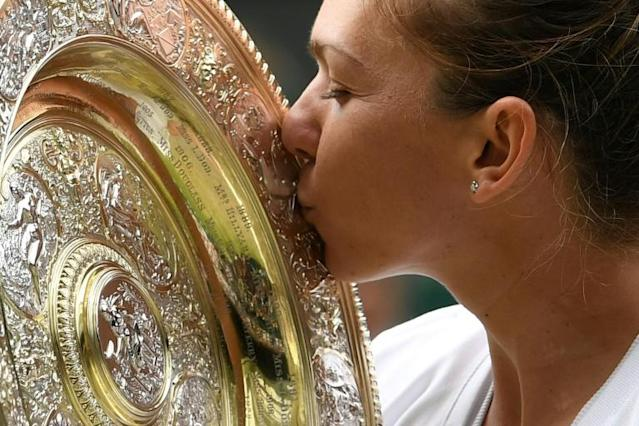 Romania's Simona Halep beat Serena Williams in last year's Wimbledon final (AFP Photo/Ben STANSALL)
