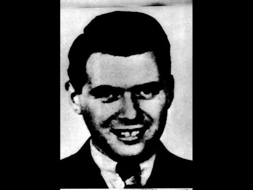 Josef Mengele headshot, Nazi war criminal, photo on black