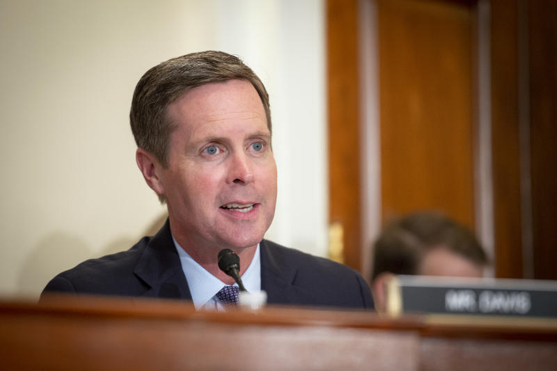 Rep. Rodney Davis, R-Ill., speaks during the House Administration Committee hearing on Oversight of the Smithsonian Institute in Washington on Wednesday Sept. 18, 2019. (Photo: Caroline Brehman/CQ-Roll Call, Inc via Getty Images)