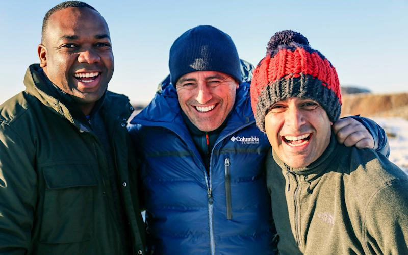 Rory Reid, Matt LeBlanc and Chris Harris in Kazakhstan - WARNING: Use of this copyright image is subject to the terms of use of BBC Pictures' Digital Picture Service (BBC Pictures) as set out at www.bbcpictures.co.uk. In particular, this image may only be published by a registered User of BBC Pictures for editorial use for the purpose of publicising the relevant BBC programme, personnel or activity during the Publicity Period which ends three review weeks following the date of transmission and provided the BBC and the copyright holder in the caption are credited. For any other purpose whatsoever, including advertising and commercial, prior written approval from the copyright holder will be required.