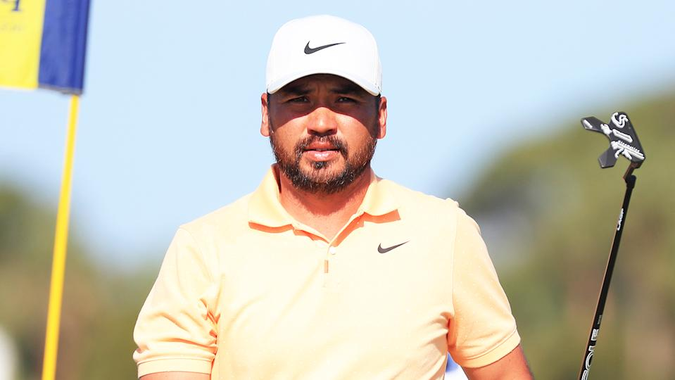 Jason Day (pictured) walks off the first green during the third round of the 2021 PGA Championship.