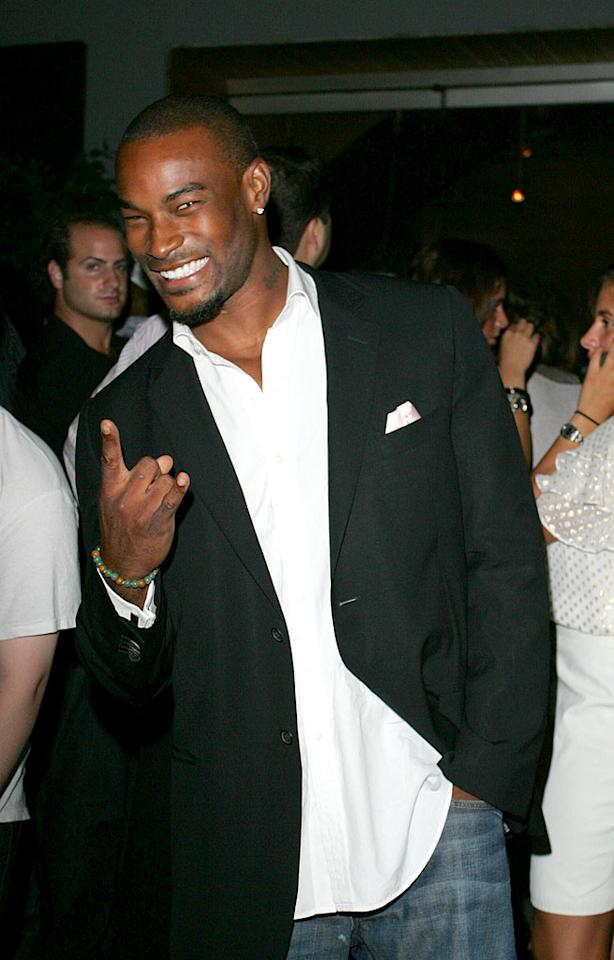 "Tyson Beckford flashes his million dollar smile. Ahmad Elatab/Jackson Lee/<a href=""http://www.splashnewsonline.com/"" target=""new"">Splash News</a> - September 10, 2007"