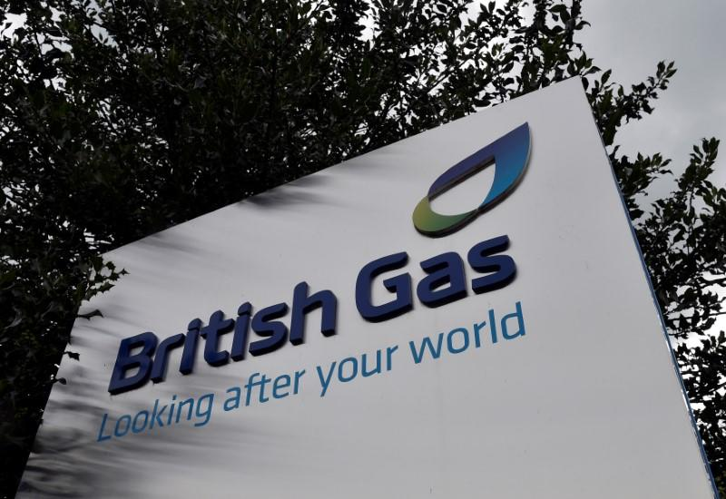FILE PHOTO: A British Gas sign is seen outside its offices in Staines in southern England