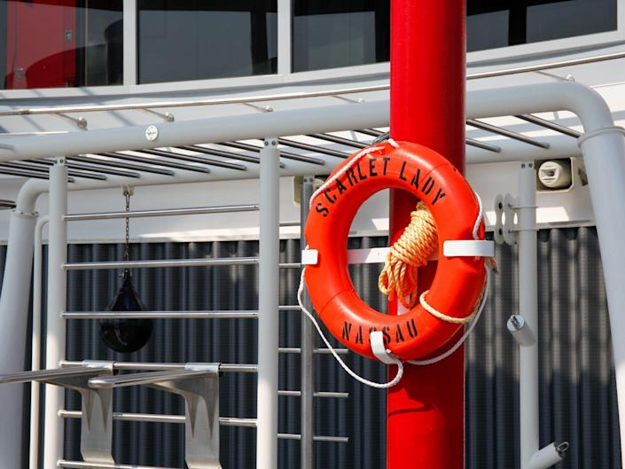 life preserver ring that says Scarlet Lady