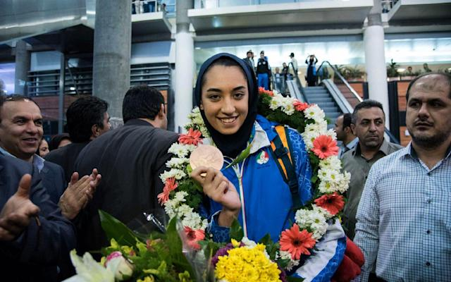 Kimia Alizadeh has said homesickness the the price she is prepared to pay for living in Europe - AFP