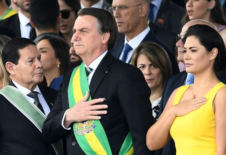 Brazilian President Jair Bolsonaro, pictured here on September 7, 2019, has left hospital after his fourth operation following his stabbing at a campaign rally last year