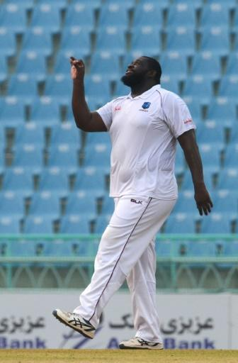 West Indies' Rahkeem Cornwall is a cricketing giant