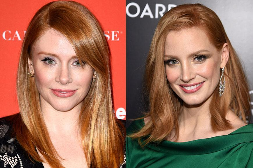With their red hair and their beautiful green eyes, these two lovely ladies are almost identical! Its said that in the past Bryce Dallas Howard has been mistaken Jessica Chastain at red carpet events, and we can see why! Check out more celebrity lookalikes that we put together, it will blow your mind!