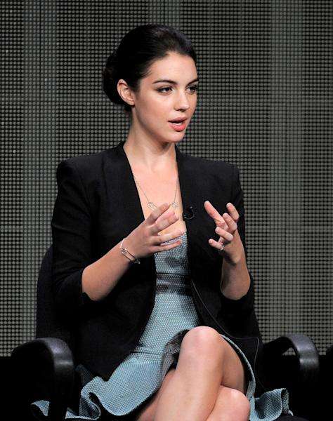 """Adelaide Kane participates in the """"Reign"""" panel at the CW Summer TCA on Tuesday, July 30, 2013, at the Beverly Hilton hotel in Beverly Hills, Calif. Kane portrays Mary, Queen of Scots in the series premiering Oct. 17 at 9 p.m. EST. (Photo by Chris Pizzello/Invision/AP)"""