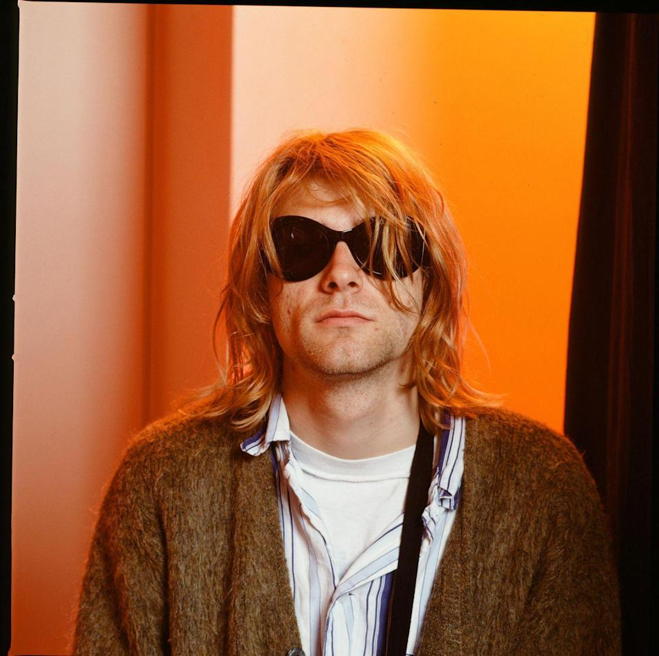<p>Kurt Cobain of Nirvana, portrait during an interview in Roppongi Prince Hotel, Tokyo, Japan in February 1992.</p>
