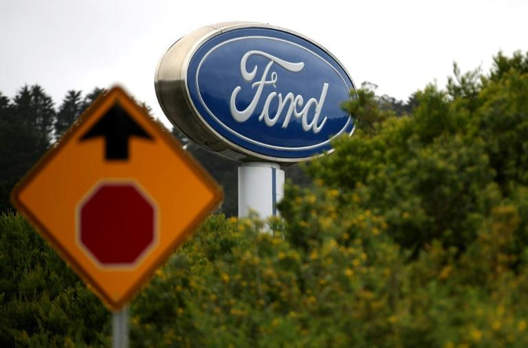 Ford shares jumped after it announced it would replace Jim Hackett as CEO with longtime auto executive Jim Farley (AFP Photo/JUSTIN SULLIVAN)