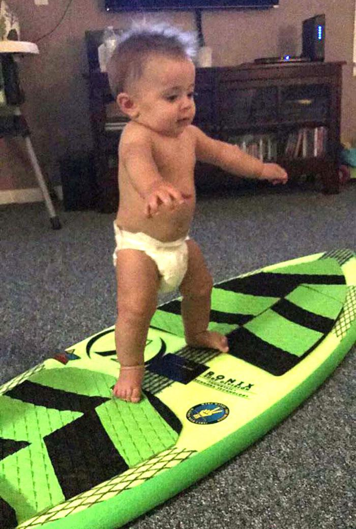 Baby Kye takes after his parents. (Photo: Courtesy Kameron Wike)