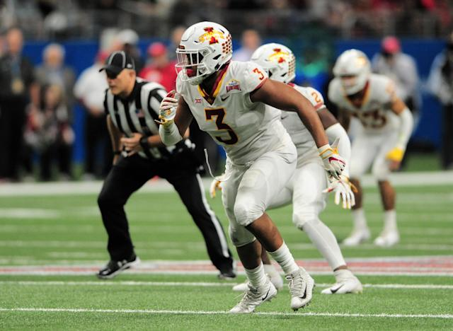 JaQuan Bailey needs one more sack to become Iowa State's all-time leader in the category. (Photo by John Rivera/Icon Sportswire via Getty Images)
