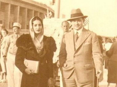 Maharaja Bir Bikram Manikya Bahadur with his wife Kanchan Prabha Devi at Paris in 1942.