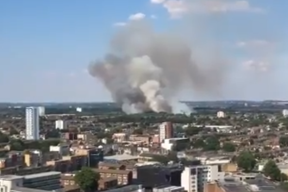 The fire on Wanstead Flats could be seen for miles (Dean Harding)