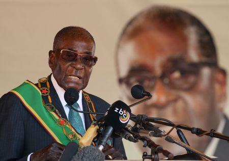 Mugabe not asleep in meetings, he's protecting eyes
