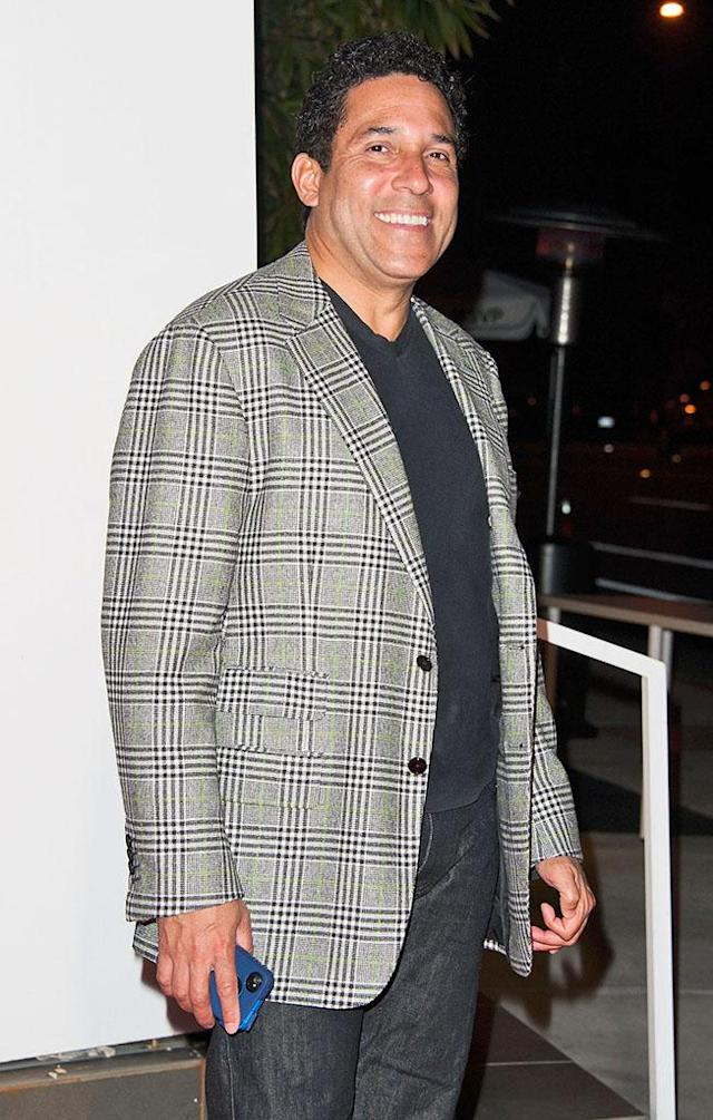"""Oscar Nunez arrives at """"The Office"""" series finale wrap party at Unici Casa Gallery on March 16, 2013 in Culver City, California."""