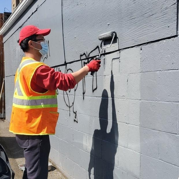Mission Possible provides work experience opportunities through its two social enterprises MP Maintenance (exterior building cleaning) and MP Neighbours (community watch and security).  (Twitter/MPEastVan - image credit)