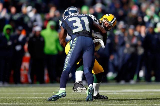 Seattle safety Kam Chancellor lowers the boom. (Getty Images)