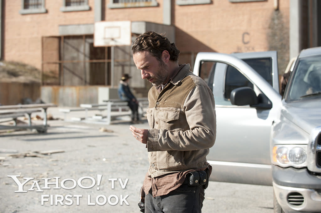 "Rick Grimes (Andrew Lincoln) in ""The Walking Dead"" episode, ""Welcome to the Tombs."""