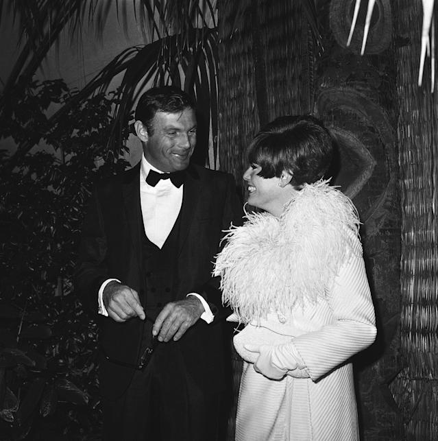 "<p>Television star of ""Batman"" fame Adam West, and Judy West arrive for the premiere of the film ""Hawaii,"" Oct. 12, 1966 in Hollywood, Calif. (Photo: Harold P. Matosian/AP) </p>"